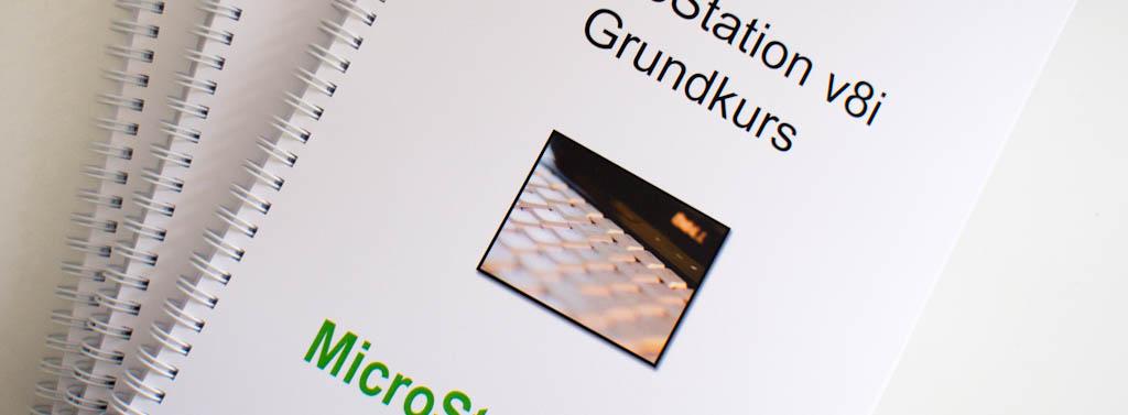 Nytt grundkursmaterial för MicroStation V8i