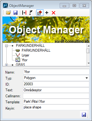 Object Manager edit